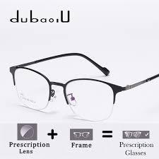 blue light prescription glasses metal full rim women prescription glasses thin photochromic anti