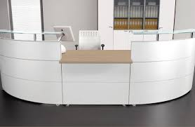 Rounded Reception Desk by Leather Reception Desk Angelico