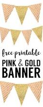 Happy Halloween Banner Printable Pink And Gold Banner Free Printable Paper Trail Design