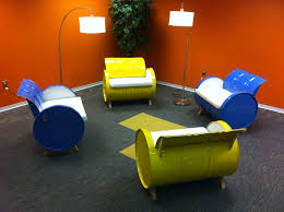 Recycle Sofas Free 55 Gallon Steel Drums Repurposed Into Amazing Furniture Collection
