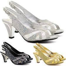 wedding shoes kitten heel new womens low mid kitten heel diamante sandals bridal