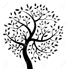 black tree icon royalty free cliparts vectors and stock