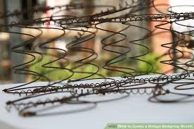 Bed Spring How To Create A Vintage Bedspring Wreath 9 Steps With Pictures