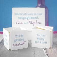 congrats wedding card personalised pop up congrats engagement card by paperbuzz