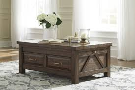 North Shore Dark Brown Sofa Coffee Tables Astonishing Ashley Furniture North Shore Piece