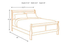 Width Of Queen Bed Frame by Alisdair Queen Sleigh Bed Ashley Furniture Homestore