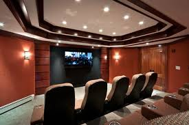 Projector Media Room - media man cave home theater projector rooms contemporary home