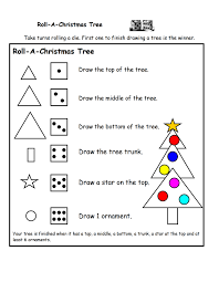roll christmas tree printable game teacher stuff