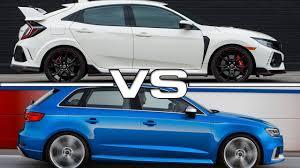 honda civic sportback 2018 honda civic type r vs 2017 audi rs3 sportback