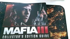 mafia iii collector u0027s edition guide unboxing youtube