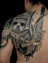 scary tattoos for horror designs shoulder