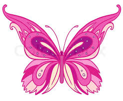 pink butterfly isolated on white background stock vector colourbox