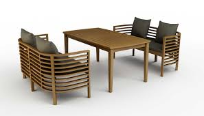 black brown scandinavian teak dining room furniture with curved