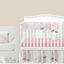 Pink Floral Crib Bedding Baby Floral Bedding Flower Crib Bedding Sets