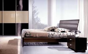 Modern Wooden Bed Furniture Bedroom Wonderful Dark Brown Wood Cool Design Most Comfortable