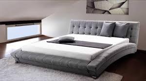 Bedroom Furniture Kingsize Platform Bed Bed Frames Grey Tufted Bed King Gray Beds Grey Wood King Bed