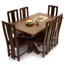 six seater dining table clovis capra 6 seater dining table set lock and pull