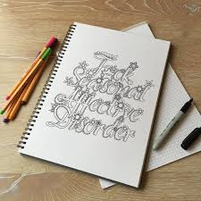 instant download printable sweary coloring page for adults a