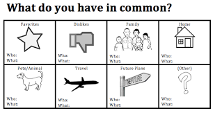 speaking activity what do you have in common pre intermediate esl