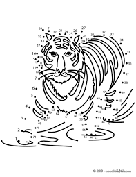 tiger dot to dot game coloring pages hellokids com