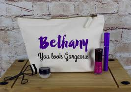 bridal party makeup bags personalised make up bag or wash bag ideal christmas present