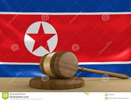Flag Law North Korea Law And Court Justice System With National Flag 3d