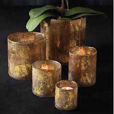 Tuscan Home Accessories Decorating Mercury Glass Candle Holders For Pretty Home