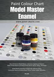 paint colour chart model master enamel 12mm pjb pc104