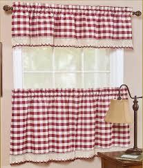 Burgundy Valances For Windows Buffalo Check Decorative Window Treatment Burgundy Achim