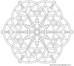 mandala coloring page steampunk lotus from geometrycoloringpages