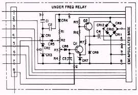 underfrequency protective relay