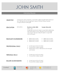 Internship In Resume Sample by Resume For Internship Template Sample Student Internship Resume