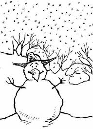 snowman free coloring free winter coloring pages snowman