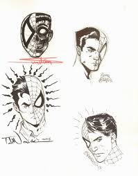 spider man peter parker sketches by arthur suydam ryan stegman