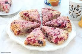raspberry recipes black and red raspberry vanilla scones recipe