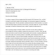 Sle Verification Letter For Tenant 9 Tenant Complaint Letter Templates U2013 Free Sample Example