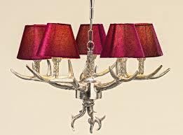 Schlafzimmer Lampen Sch Er Wohnen Kronleuchter Geweih In Marsala Rot Schirme Geweihlampe Ast Lampe