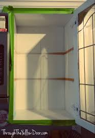 Paint Inside Kitchen Cabinets by Through The Yellow Door Kitchen Cabinets Project Painting The