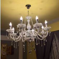 brand new european design elegant white crystal chandelier 8