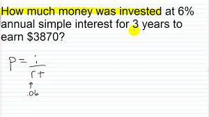 Compound Interest Worksheets Algebra Ii Main Lesson Ii 3 Simple Interest Word Problems I U003d Prt