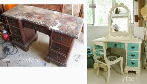 Blue Vanity Table The Ugly Duckling Dressing Table My Hubby Said It Was Junk