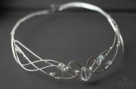 silver elven tiara wedding crystal circlet tiaras elf jewelry