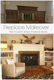 home decor cool painting fireplace doors amazing home design