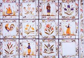 french design hand painted french design tiles