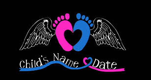 memorial decal personalized baby child in memory grievance