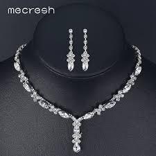 Top Mecresh Cristal Africano Conjunto de Jóias de Noiva Simples  &SZ19