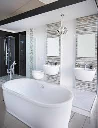 freestanding bath blackandwhite amazing tuscan decor for small