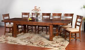 Western Dining Room Tables by Sunny Designs Tuscany Distressed Mahogany 8 Piece Extension Table