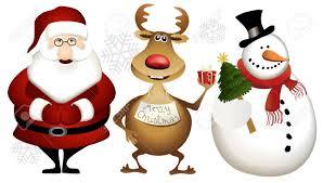 imagenes animadas de renos de navidad santa claus los renos y el muñeco de nieve de dibujos animados de