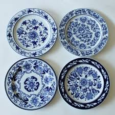 1 Piece Chinese Antique Porcelain Blue And White Decorative Plates